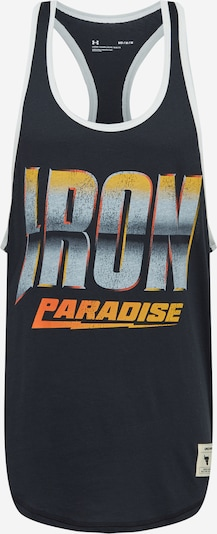 UNDER ARMOUR T-Shirt fonctionnel 'Project Rock Iron' en gris / orange foncé / noir, Vue avec produit