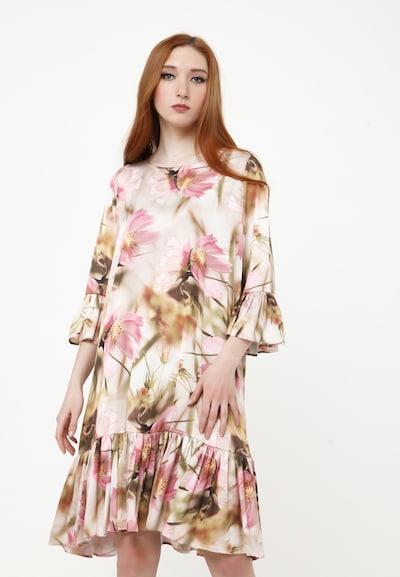 Madam-T Sommerkleid in beige / rosa, Modelansicht
