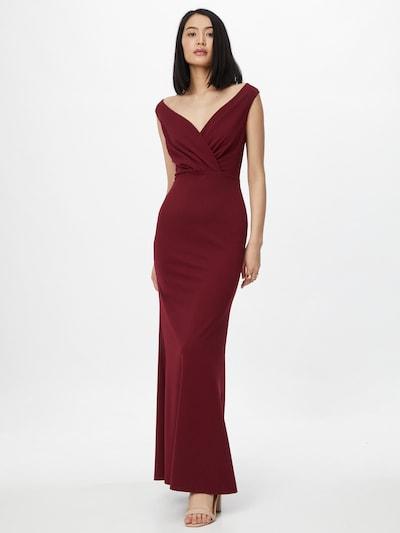 WAL G. Вечерна рокля в винено червено, Преглед на модела