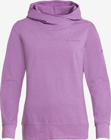 VAUDE Athletic Sweatshirt 'Tuenno' in Purple