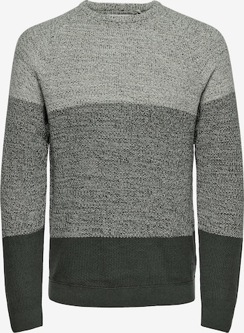 Only & Sons Pullover 'Seb' in Grau