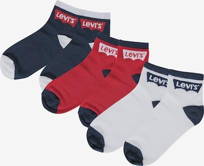 LEVI'S Socken in dunkelblau / puder / rot / weiß, Produktansicht