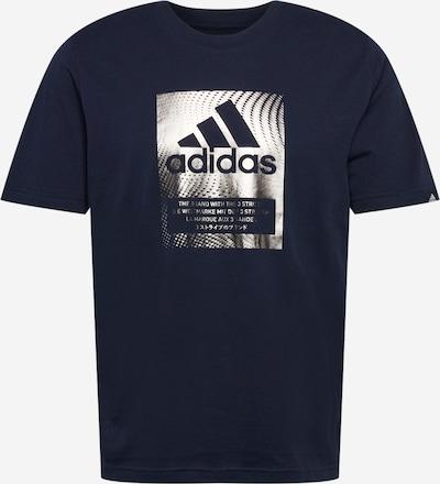 ADIDAS PERFORMANCE Функционална тениска в тъмносиньо / сребърно: Изглед отпред