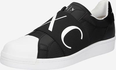 ARMANI EXCHANGE Slip on boty - černá / bílá, Produkt