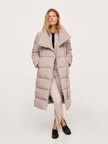 MANGOZimski kaput - ljubičasta boja