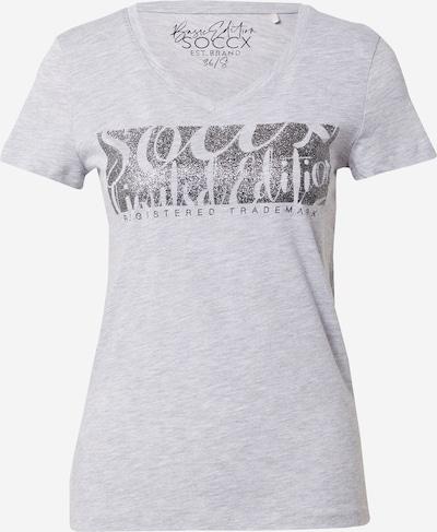 Tricou Soccx pe gri / negru, Vizualizare produs