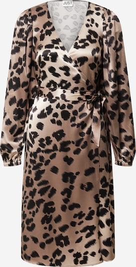 JUST FEMALE Kleid 'Laguna' in hellbraun / schwarz, Produktansicht