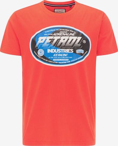 Petrol Industries Tričko - modrá / korálová / černá / bílá, Produkt