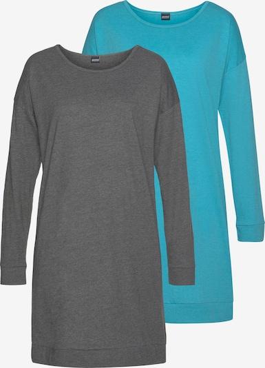 ARIZONA Nachthemd in hellblau / graumeliert, Produktansicht