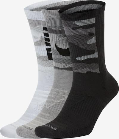 NIKE Skarpety sportowe w kolorze szary / mieszane kolory / czarny / białym, Podgląd produktu