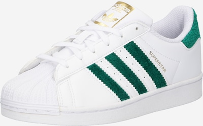 ADIDAS ORIGINALS Sneaker 'SUPERSTAR C' in grün / weiß, Produktansicht