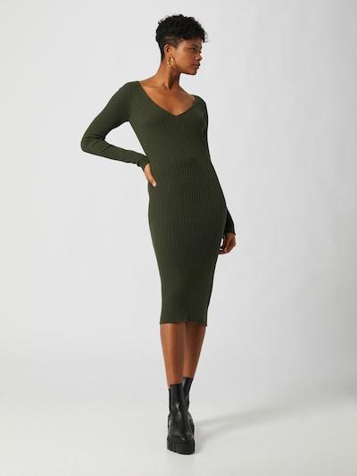 LeGer by Lena Gercke Stickad klänning 'Josefin' i grön, På modell