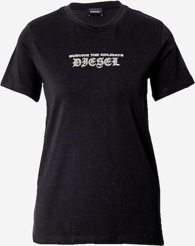 DIESEL Koszulka w kolorze czarny / białym, Podgląd produktu