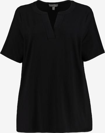 Ulla Popken Oversized shirt in Zwart