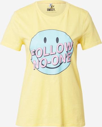 ONLY Shirt 'ONLSMILEY' - Žltá