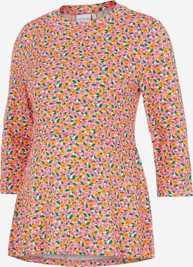 MAMALICIOUS Shirt 'Caro' in grün / orange / rosa / weiß, Produktansicht