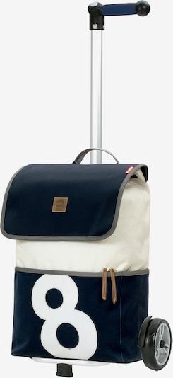 Andersen Shopper Einkaufstrolley 'Unus' in navy / weiß, Produktansicht
