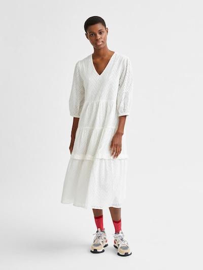 SELECTED FEMME Kleid 'Cece-Sadie' in naturweiß, Modelansicht