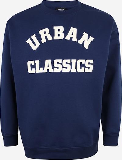 Urban Classics Big & Tall Sweat-shirt en bleu foncé / blanc, Vue avec produit