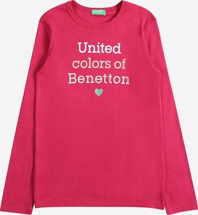 UNITED COLORS OF BENETTON Shirt in grün / pitaya / silber, Produktansicht
