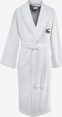 LACOSTE Long Bathrobe 'RENE' in White