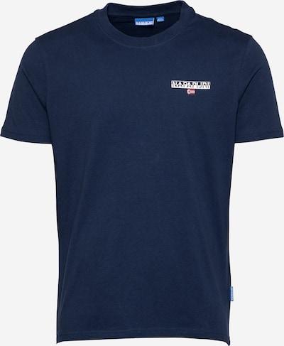 NAPAPIJRI Тениска 'ICE' в нейви синьо / червено / бяло: Изглед отпред