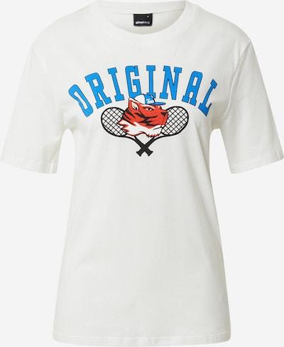 Tricou 'Parent' Gina Tricot pe albastru deschis / roșu orange / negru / alb, Vizualizare produs