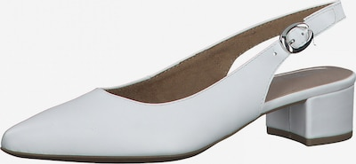 TAMARIS Zapatos destalonado en blanco, Vista del producto