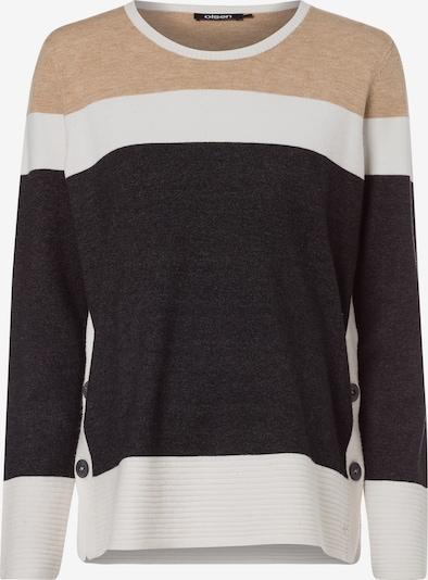 Olsen Pullover in beige / dunkelgrau / weiß, Produktansicht