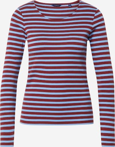 GANT T-shirt i ljusblå / blodröd, Produktvy
