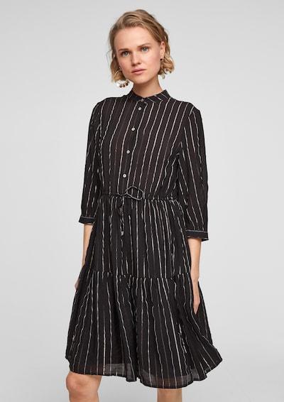 Q/S designed by Košulja haljina u zlatna / crna, Prikaz modela
