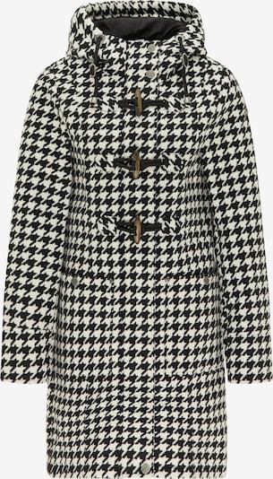 DreiMaster Vintage Manteau d'hiver en noir / blanc, Vue avec produit