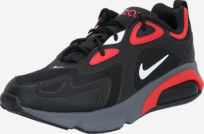 Nike Sportswear Niske tenisice 'Air Max 200' u crvena / crna: Prednji pogled