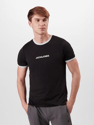 JACK & JONES Skjorte 'Coring' i sort / hvid: Frontvisning