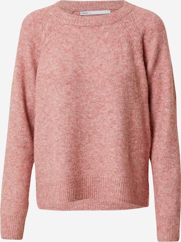 ONLY Sweter 'GABI LIFE' w kolorze różowy