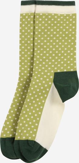 Calzino 'Yard Dots' DillySocks di colore verde chiaro / verde scuro / bianco, Visualizzazione prodotti