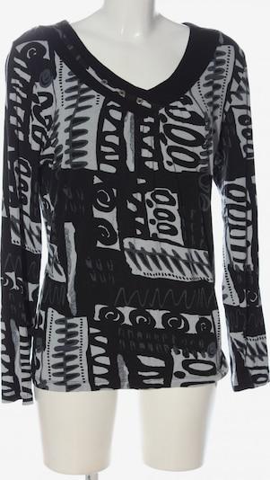 YOUNG SPIRIT Langarm-Bluse in L in schwarz / weiß, Produktansicht