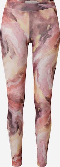 Moves Leggings 'Mista' en lilas / orange pastel / rose / rosé / blanc, Vue avec produit