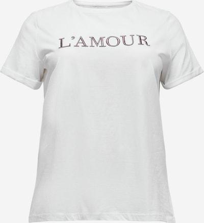 ONLY Carmakoma Camiseta 'Antonia' en gris basalto / rojo oscuro / blanco, Vista del producto