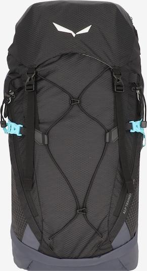 SALEWA Sportrugzak 'Alp Trainer' in de kleur Turquoise / Donkergrijs / Zwart gemêleerd / Wit, Productweergave