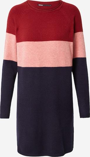 Megzta suknelė iš ONLY, spalva – tamsiai mėlyna / rožių spalva / vyno raudona spalva, Prekių apžvalga