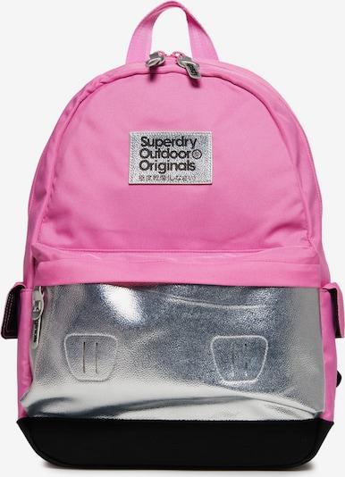 Superdry Rucksack 'Montana' in pink / schwarz / silber, Produktansicht