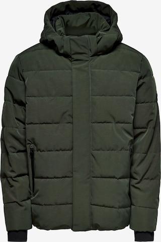 Veste d'hiver 'Cayson' Only & Sons en vert