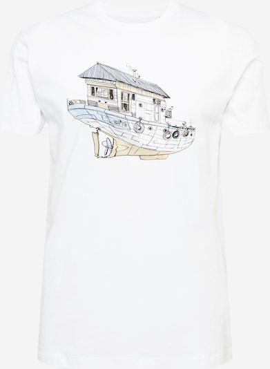 Cleptomanicx T-Shirt 'Dreamhome' in beige / azur / weiß, Produktansicht