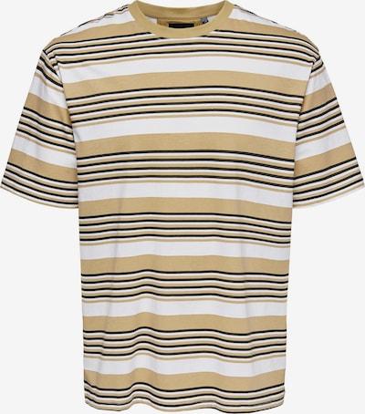 Only & Sons Camiseta 'Victor' en marrón claro / negro / blanco, Vista del producto