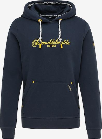 Schmuddelwedda Hoodie 'Ostee' in navy / gelb, Produktansicht