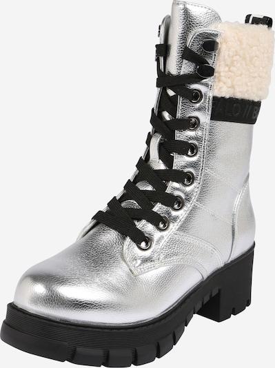 BUFFALO Stiefel 'MONTGOMERY' in schwarz / silber / weiß, Produktansicht