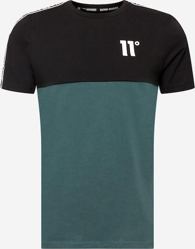 11 Degrees T-Shirt in jade / schwarz / weiß, Produktansicht