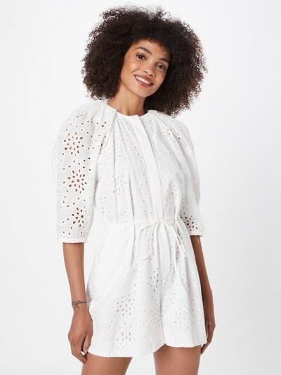 Salopeta Bardot pe fildeş / alb, Vizualizare model