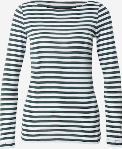 ESPRIT Shirt in dunkelgrün / weiß, Produktansicht